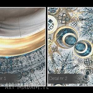 obraz na płótnie - koła fraktale - 120x80 cm (62301) nowoczesny
