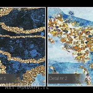 gustowne nowoczesny obraz na płótnie - marmur złoto