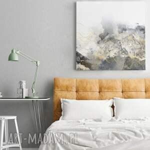 fale białe obraz na płótnie - abstrakcja