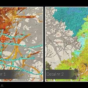 wyjątkowe obrazy nowoczesny obraz na płótnie - drzewa kolory