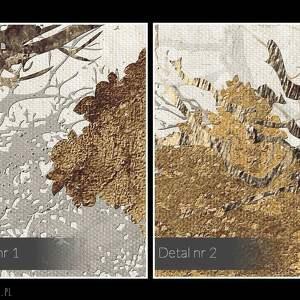 obrazy abstrakcja obraz na płótnie - drzewa brąz