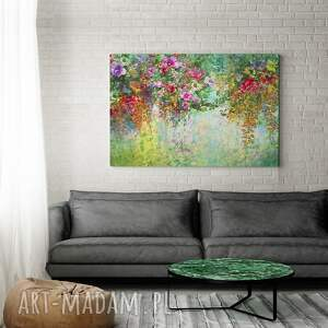 obrazy ogród obraz na płótnie - kwiaty