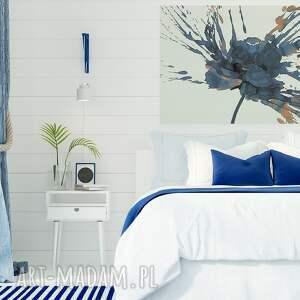 niebieskie obraz do salonu na płótnie - kwiat mak