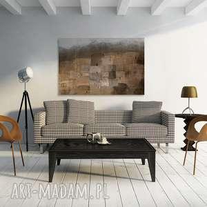 VAKU DSGN obraz na płótnie - domy osada brązowy - 120x80 cm (93301)