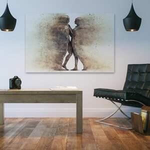 hand made obrazy para obraz na płótnie - sylwetki