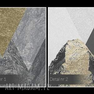 niepowtarzalne paski obraz na płótnie - góry trójkąty