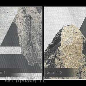 atrakcyjne paski obraz na płótnie - góry trójkąty