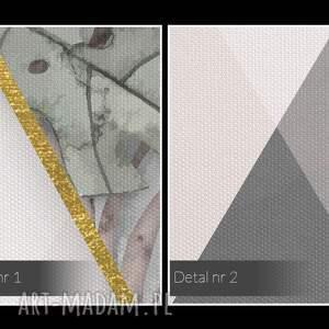 pastelowy obraz na płótnie - geometryczny