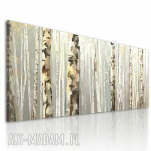 las beżowe obraz na płótnie - 150x60cm las