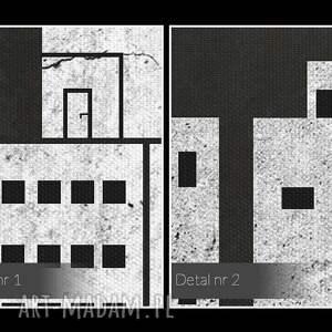 intrygujące obrazy miasto obraz na płótnie - klawisze budynki