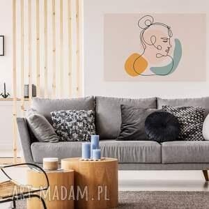 obraz na płótnie - minimalizm portret linie - 120x80 cm (96302) picasso