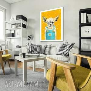 turkusowe pies obraz na płótnie - 60x80cm