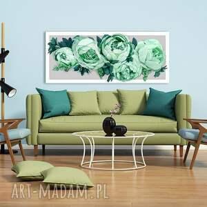 oryginalne obrazy piwonie obraz na płotnie 120x50 -