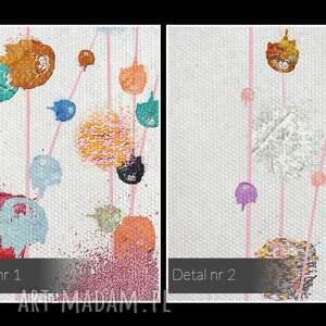 obraz na płótnie - kolorowy kropki abstrakcja - 120x80 cm (69901) plamy