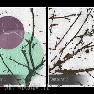gustowne planety obraz na płótnie - koła drzewa