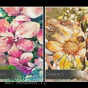 niepowtarzalne obrazy ogród obraz na płótnie - kwiaty