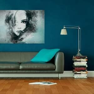 turkusowe kobieta obraz na płótnie - portret