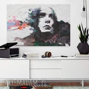 białe obrazy portret obraz na płótnie - kobieta