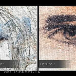 efektowne piękno obraz na płótnie - kobiety portrety