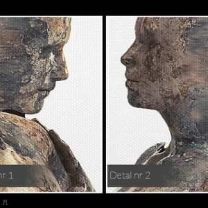 VAKU DSGN obraz na płótnie - para sylwetki postacie - 120x80 cm (38401)