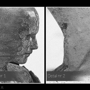unikalne obrazy postacie obraz na płótnie - para sylwetki