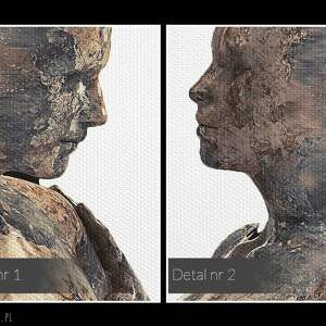 obrazy postacie obraz na płótnie - para sylwetki