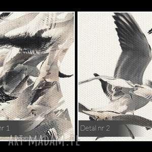 awangardowe ptaki obraz na płótnie - portret