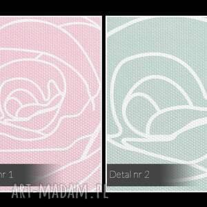 urokliwe pudrowy obraz na płótnie - kwiaty róże