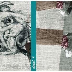 brązowe obrazy chłopaki obraz na płótnie - 02137