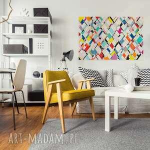 obrazy romby obraz na płótnie - kolorowy
