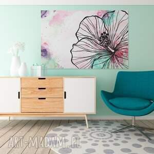 Obrazy Obraz Na Płótnie Abstrakcja Kwiat 120x80