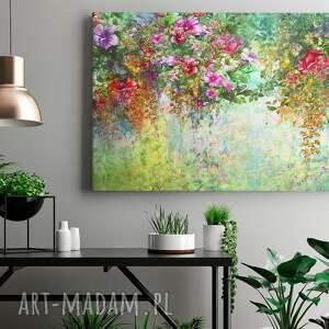 rośliny obrazy obraz na płótnie - ogród kwiaty