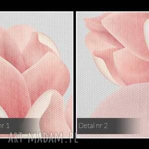 obrazy rośliny obraz na płótnie - kwiaty różowy 3d