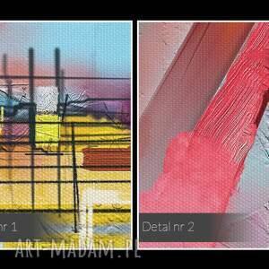 efektowne kolorowy obraz na płótnie - abstrakcyjny
