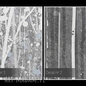 intrygujące zimowy obraz na płótnie - szary biały