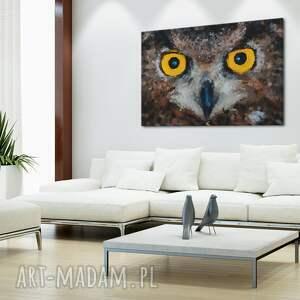 wyjątkowe obrazy sowa obraz na płótnie - oczy