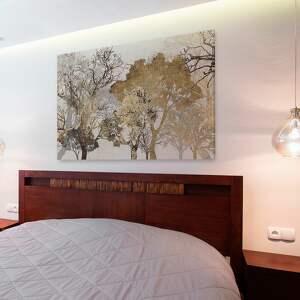 brązowe drzewa obraz na płótnie - brąz