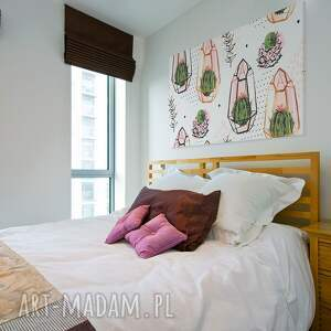 różowe obrazy sukulenty obraz na płótnie - kaktusy
