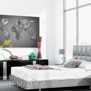 obraz na płótnie - mapa świata beton kamień - 120x80 cm (74101) świat