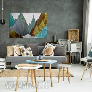 turkusowe szczyty obraz na płótnie - góry