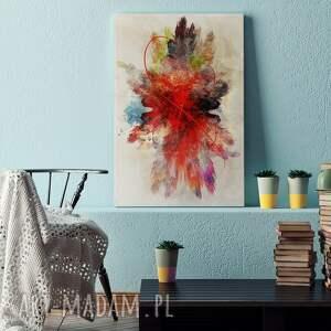 VAKU DSGN obraz na płótnie - abstrakcja czerwony - 120x80 cm (74801) sztuka