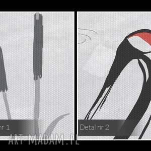 frapujące tatarak obraz na płótnie - żurawie sejmik