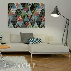 trójkąty obraz na płótnie