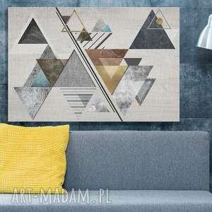 trójkąty obraz na płótnie - abstrakcja