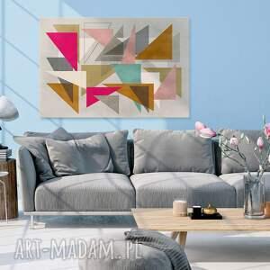 obrazy trójkąty obraz na płótnie - abstrakcja