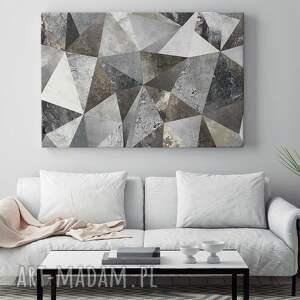 trójkąty obraz na płótnie - beton