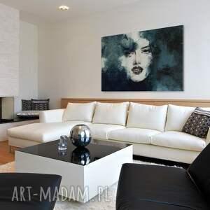 kobieta białe obraz na płótnie - portret
