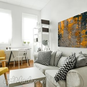 pomarańczowe obrazy ulica obraz na płótnie - abstrakcja