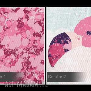intrygujące obrazy wakacyjny obraz na płótnie - flamingi różowy