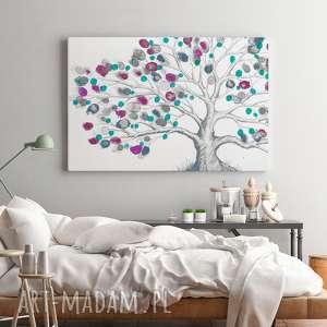 fioletowe obrazy wiosna obraz na płótnie - drzewo